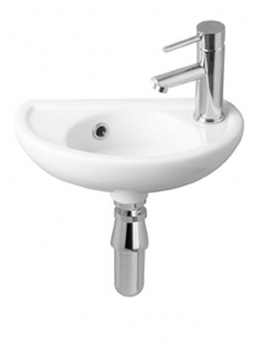 Eastbrook Temptation Wall Mounted Basin 400mm 1Tap Hole